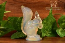 Sabino Opalescent Crystal 1960-80 Squirrel Figurine