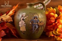 Weller Pottery 1900-05 Dickensware II Whiskey Jug Old England Bar Scene #30 Anthony Dunlavy