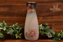 Weller Pottery 1906 Pink Rose Etna Bottle Vase
