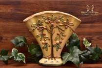 Weller Pottery 1920's Yellow Voile Large Fan Vase