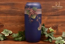 Weller Pottery 1920's Blue and Decorated Hudson Apple Blossom Vase