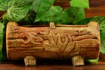 Weller Pottery 1920-33 Oak Leaf Woodcraft Log Planter