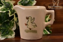 Weller Pottery 1920's Zona Child's Little Milk Pitcher with Dancing Duck