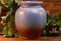 Weller Pottery 1936-48 Blue Brick Red Round Vase #9